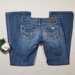 BKE Sabrina Destroyed Flare Jeans Size 26x31 1/2